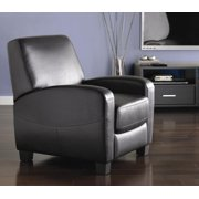 Mainstays Push Back Home Theater Recliner in Faux Leather, Multiple Colors