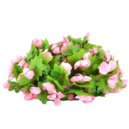 Wedding Party Decor Artificial Emulational Hanging Flower Vine Pink ...