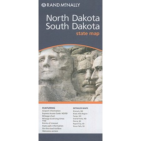 Rand mcnally north dakota/south dakota state map: (South Dakota Fishing Maps)