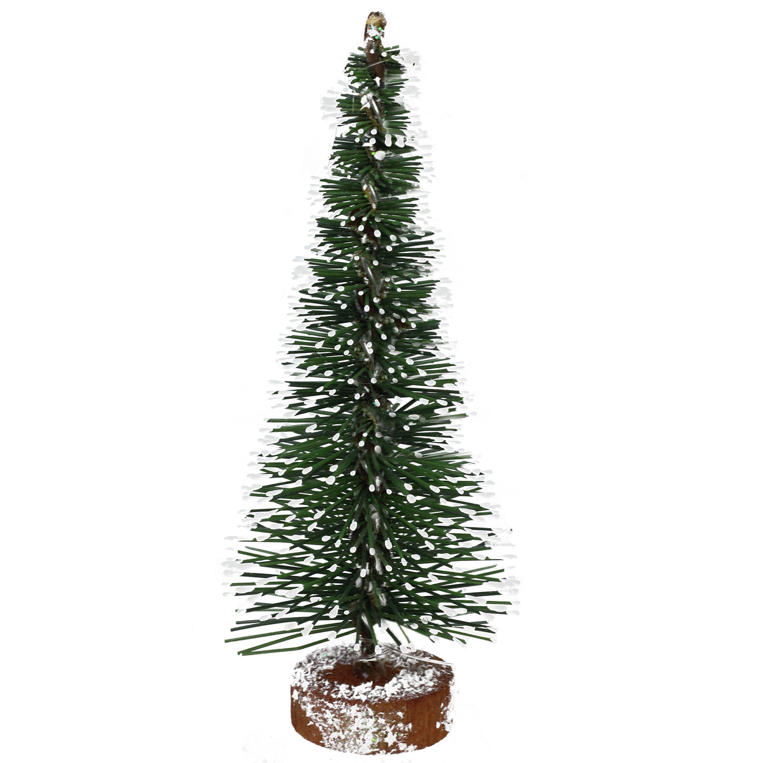 "Frosted Slim Christmas Tree: 5"" Slim Frosted Green Mini Pine Artificial Village"