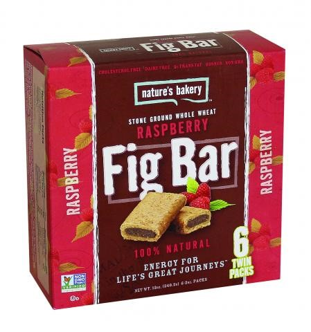 Nature's Bakery Fig Bar Raspberry, 6- 2oz twin packs