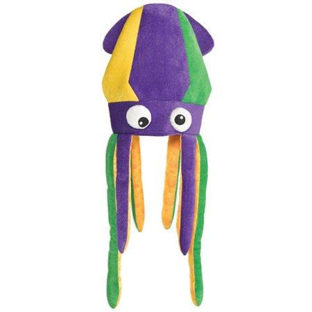 Hot Mardi Gras Girls (Mardi Gras Deluxe Plush Squid Hat)