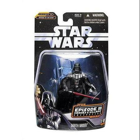 Star Wars Episode III Heroes & Villains 2006 Darth Vader Action Figure](Darth Vader Episode 3)