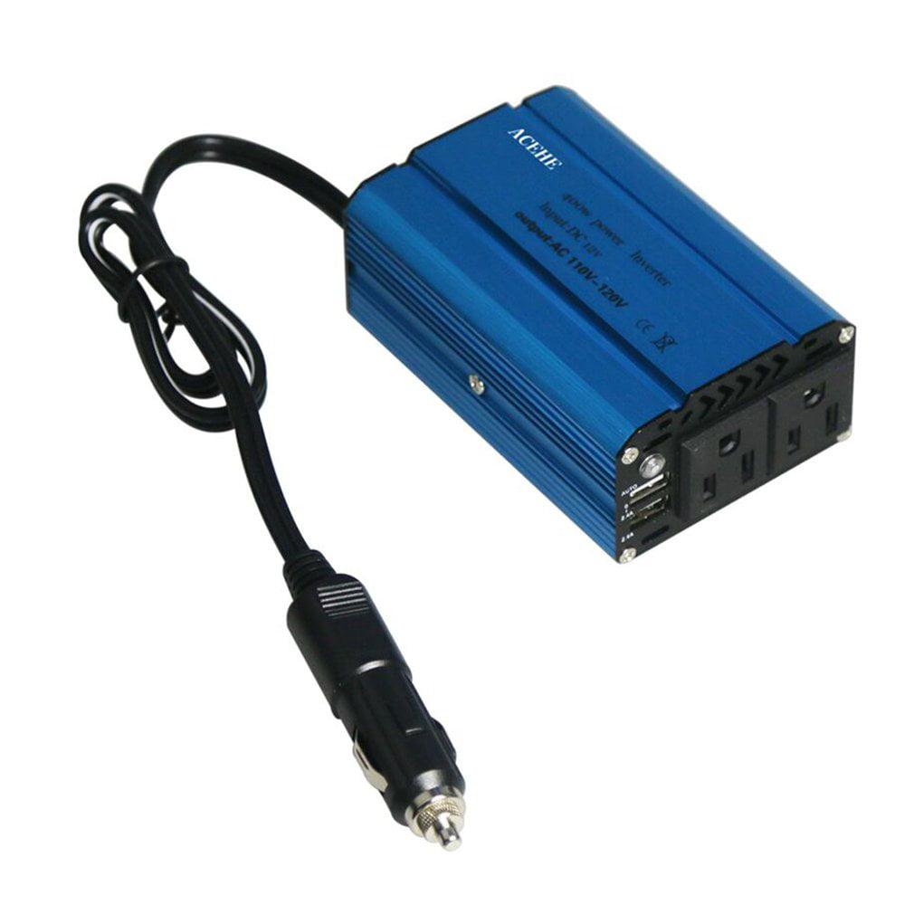 ACEHE 400W Car Power Inverter DC 12V to 110-220V AC Dual USB Ports Converter