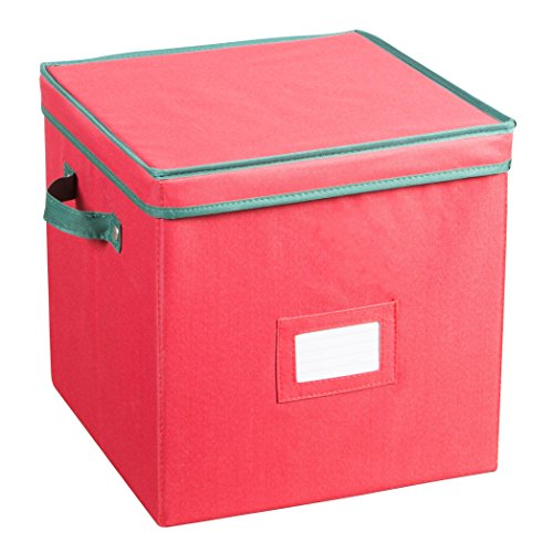 Holiday Ornaments Storage Cube with 64 Individual Compartments - Made with Non-W