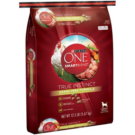 Purina ONE SmartBlend True Instinct Grain Free Formula Nutrient-Dense with Real Chicken & Sweet Potato Adult Dog Food 12.5 lb Bag