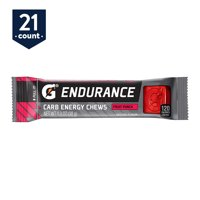 Gatorade Endurance Carb Energy Chews, Fruit Punch, 1.3 oz Packs, 21 Count