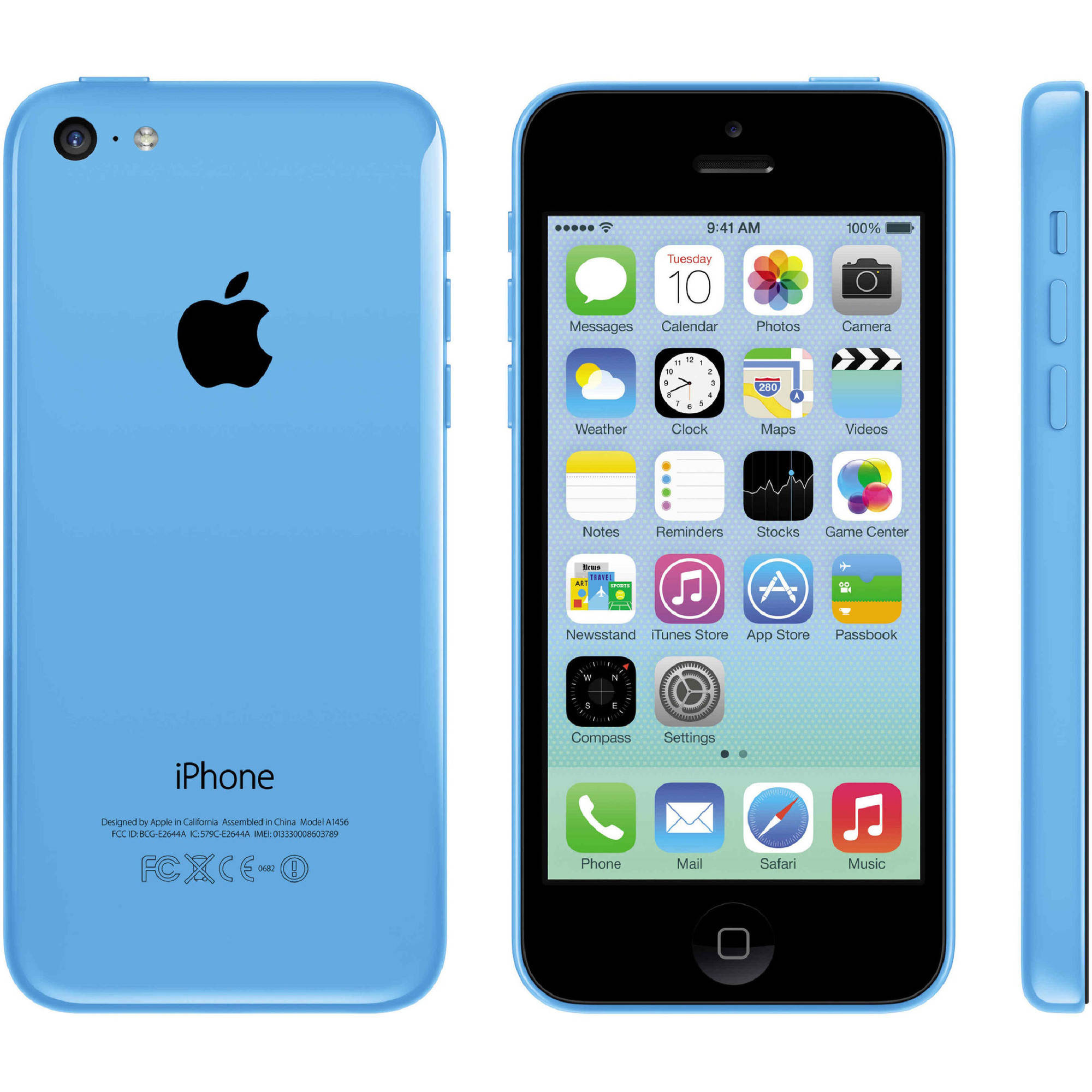 Apple iPhone 5C 16GB Unlocked GSM Phone, Blue, Manufactured Refurbished
