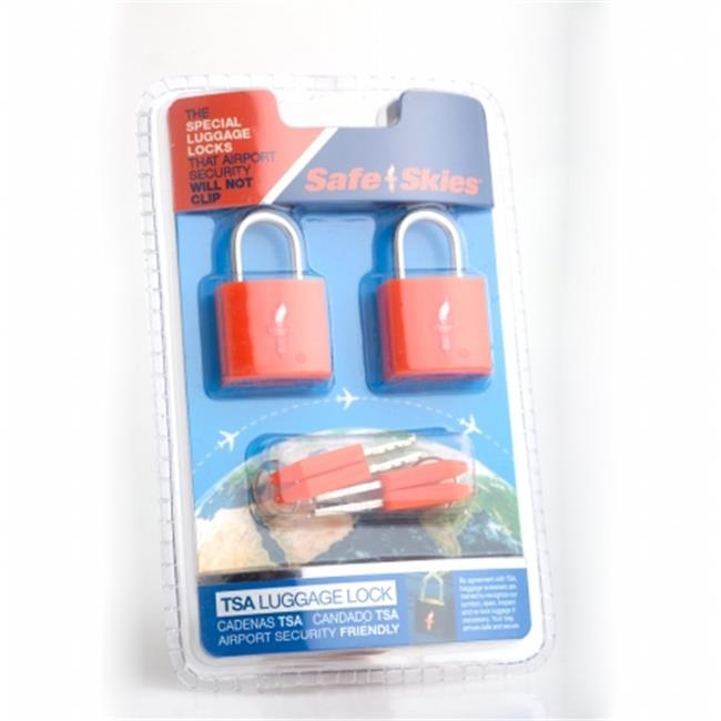 Safe Skies No. 204a TSA-Approved padlocks double-set - Pumpkin