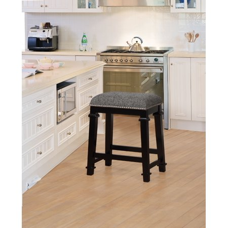 Linon Kyley Tweed Counter Stool 25 Inch Seat Height