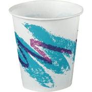 Solo Jazz Design Waxed Paper Cold Cups, Multi, 5000 / Carton (Quantity)