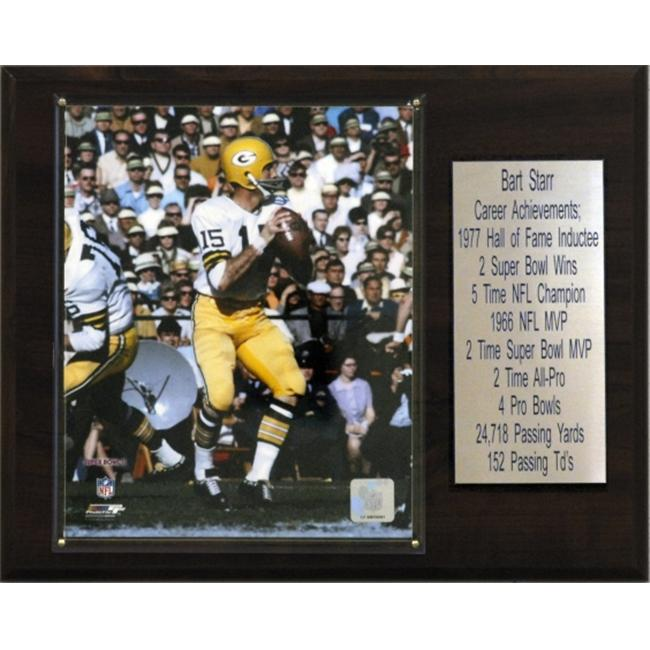 C & I Collectables 1215BSTARR NFL Bart Starr Green Bay Packers Player Plaque