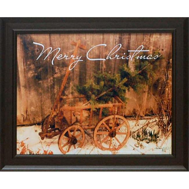 Artistic Reflections P556 14 x 17 in. Merry Christmas Framed Art Print - image 1 de 1