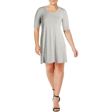 Cupio Womens Jersey Elbow Sleeves T-Shirt Dress Jersey T-shirt Dress