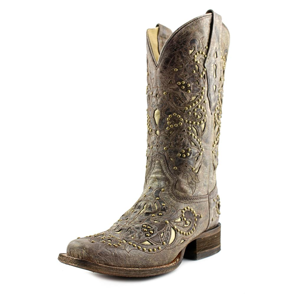 Corral A1121 Women  Square Toe Leather Brown Western Boot