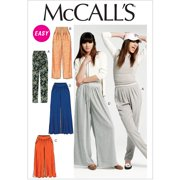 Mccall's Pattern Misses' Pants In 2 Leng