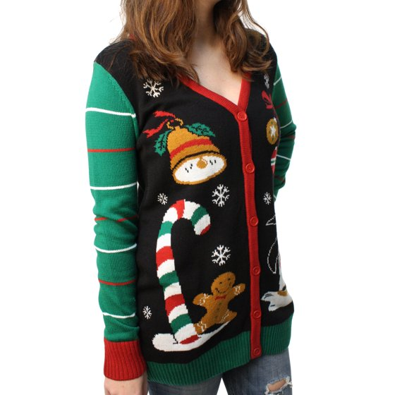 e9d62239 60.96 cm; - Shoulder to Hem: 30 in./76.20 cm; - Sleeve Length: 27 in./68.58  cm; Ugly Christmas Sweater Women's Penguin Cardigan Pullover Sweatshirt