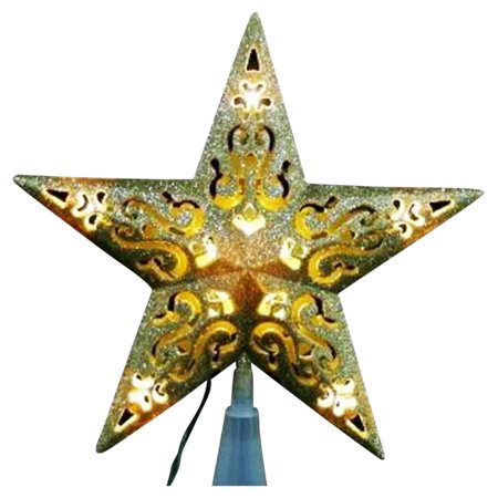 Northlight 8.5 in. Lighted Cutout 5 Point Star Christmas Tree - Christmas Tree Cutouts