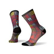 Smartwool Men?s Curated Crew Socks - Block Type Print, Ultra Lightly Cushioned Merino Wool Performance Socks
