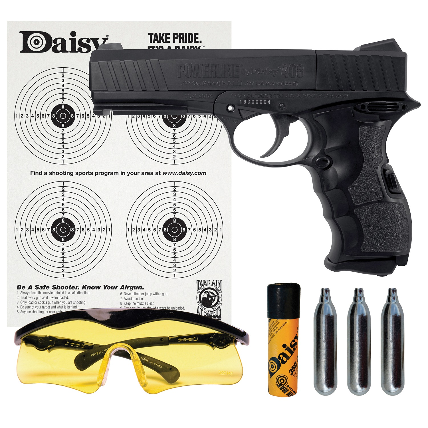 Daisy PowerLine 408 8-shot BB Pellet CO2 Semi-Auto by Daisy