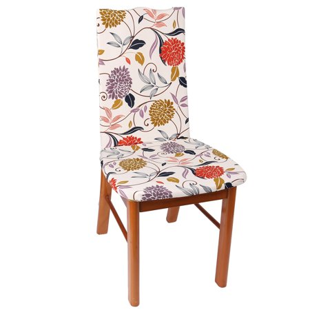 Home Spandex Flower Pattern Chair Seat Decor Stretchy Dustproof Protector Cover - image 4 of 4