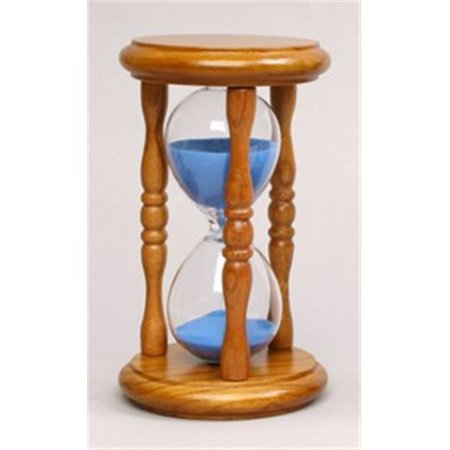 g w schleidt 36005na g sand timer 5 mins blue sand in natural stand