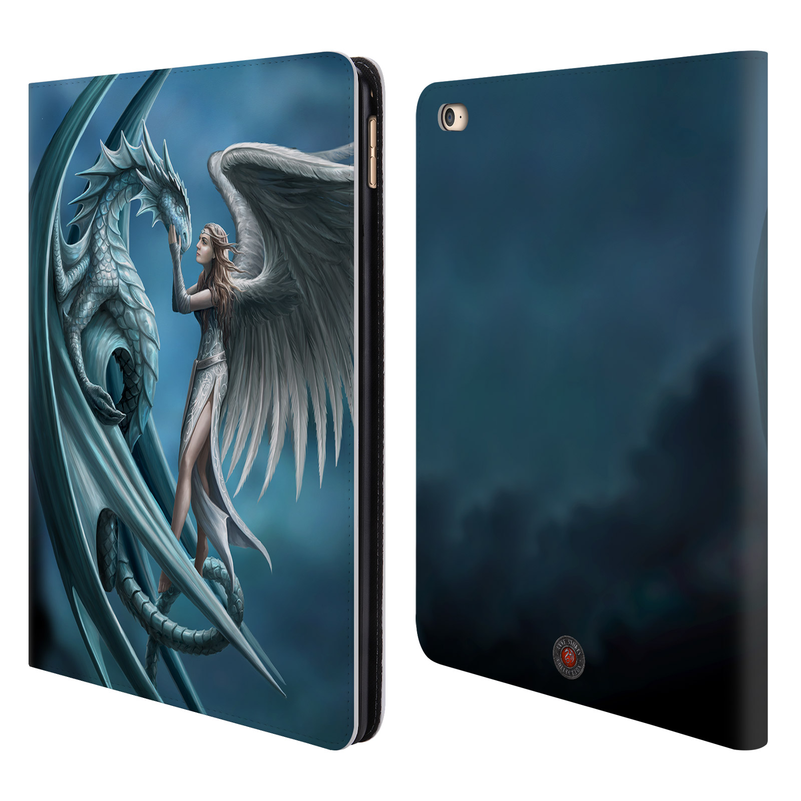 OFFICIAL ANNE STOKES DRAGON FRIENDSHIP LEATHER BOOK WALLET CASE COVER FOR APPLE IPAD