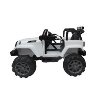 12V Kids Ride On Car SUV MP3 RC Remote Control LED Lights White for Christmas gift