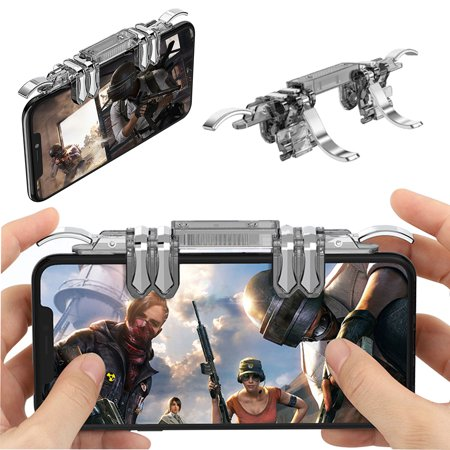 PUBG Mobile Game Controller & Best Shooting 6 Finger Controller Trigger for iPhone Android, Comfortable Gamepad with Shooting Buttons for All Phones Rules of Survival (Best Controller Supported Android Games)