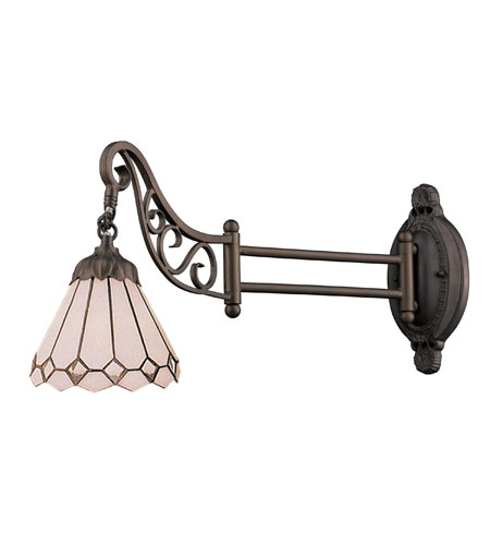 Wall Sconces 1 Light With Tiffany Bronze Finish 04 Glass Medium Base 24 inch 60 Watts - World of Lamp