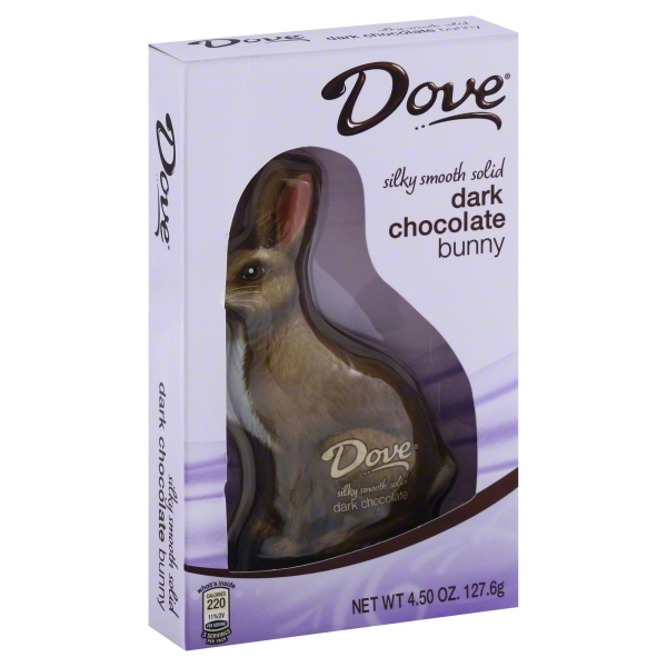 Dove Dark Chocolate Bunny, 4.50 Oz., 12 Count