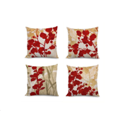 fabricmcc set of 4 red flowers pillow covers decorative couch throws cases cushion covers 18 x - Decorative Couch Pillows
