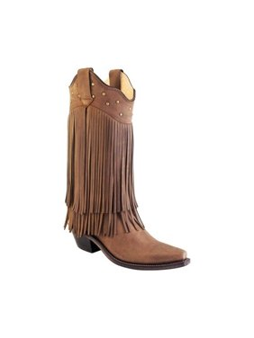 2caec38ab Product Image Women s Old West 12 Inch Snip Toe Fashion Wear Fringe Cowboy  Boot