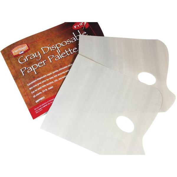 """Heritage Disposable Gray Paper Palette Pad 9"""" x 12"""""""