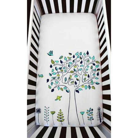 Atelier  Dele Apple Tree Organic Crib Fitted Sheet