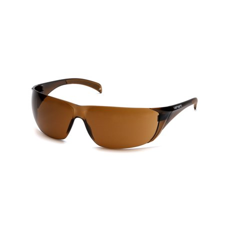 Pyramex Safety Products Carhartt Billings Safety Glasses Sandstone Bronze Lens With Sandstone Bronze Temples