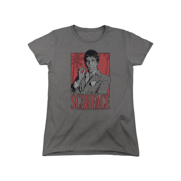 Scarface Gangster Movie Tony Graphic Women's T-Shirt Tee