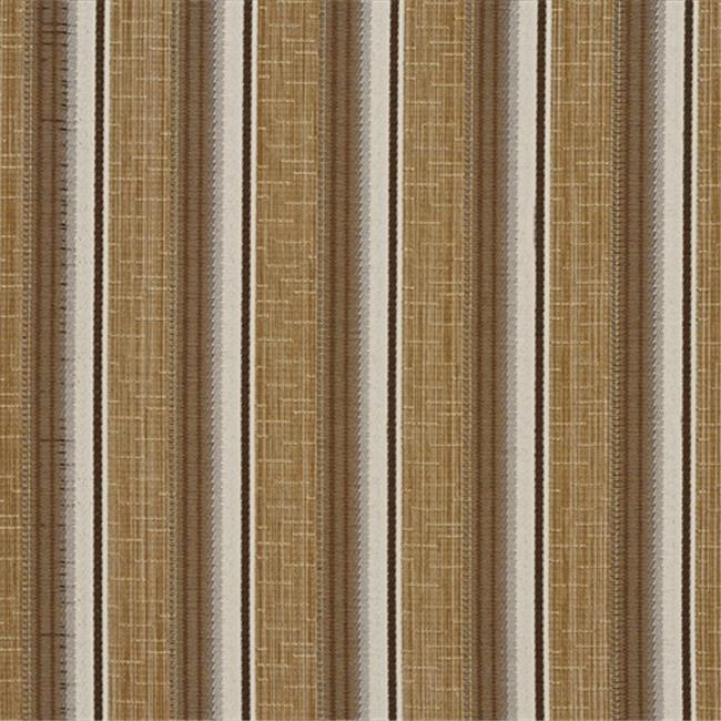 Designer Fabrics A371 54 in. Wide Beige Brown And Ivory Striped Tweed Textured Metallic Upholstery Fabric