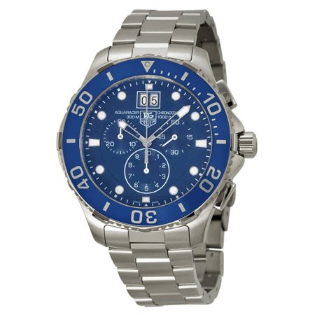 Tag Heuer Aquaracer Grande Date Blue Dial Mens Watch
