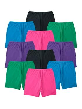 Comfort Choice Women's Plus Size Comfort Choice 10-Pack Cotton Boyshort