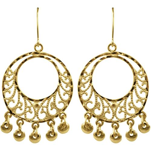 Simply Gold 10kt Yellow Gold Chandelier Dangle Earrings