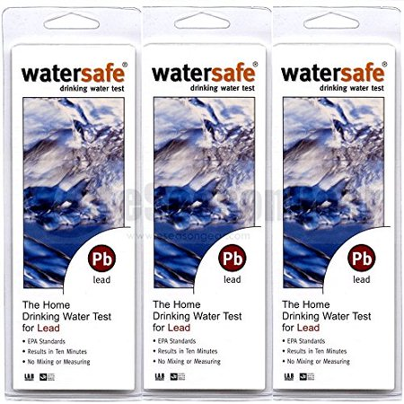 3x Watersafe WS-207 Lead in Home Tap Drinking Water Test Kit, Single Use Water Testing Equipment