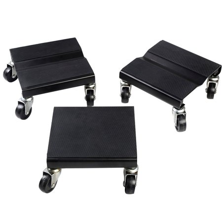 Costway 1500 LBS Snowmobile Roller Set 3 PCs Dolly Storage Dollies Mover Snow