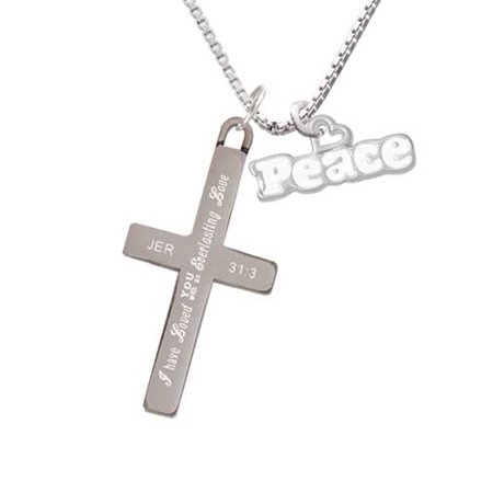 White ''Peace'' with Heart - Everlasting Love - Cross