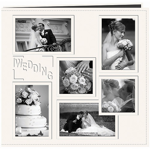 """Collage Frame Sewn Embossed Cover Postbound Album, 12"""" x 12"""""""