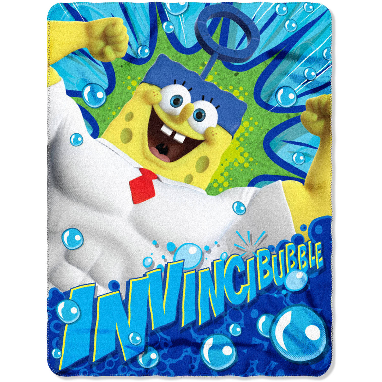 "Nickelodeon's SpongeBob Movie: Sponge out of Water ""Movie Power"" 45"" x 60"" Fleece Throw"