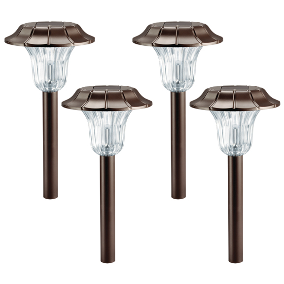 4 Pack Westinghouse Milano Bronze Solar Outdoor Garden Pathway LED Stake Light by Westinghouse