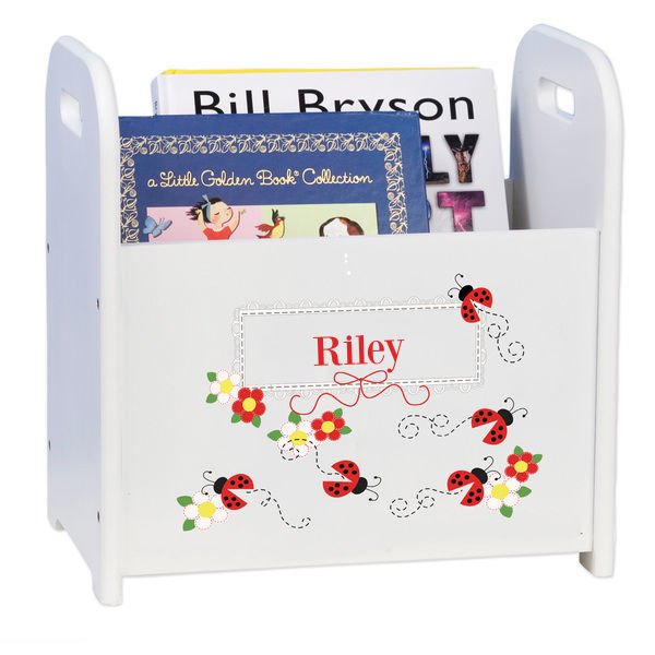 Personalized Red Ladybugs Caddy and Book Rack