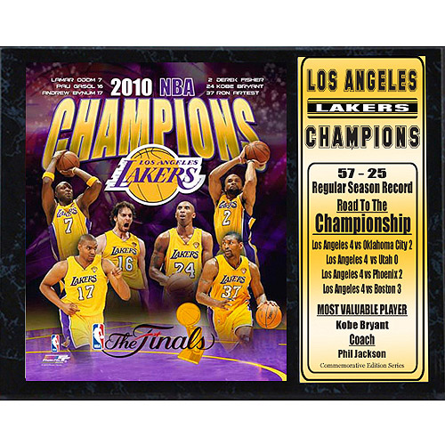 NBA Los Angeles Lakers Champions Stat Plaque, 12x15
