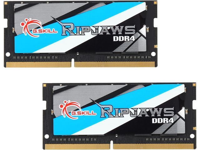 G.SKILL 16GB (2 x 8G) Ripjaws Series DDR4 PC4-17000 2133MHz Laptop Memory Model F4-2133C15D-16GRS